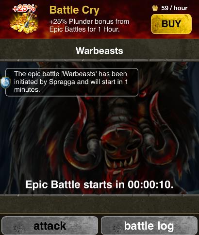 Battle Cry - New Clan Plunder Buff   KaW Forum